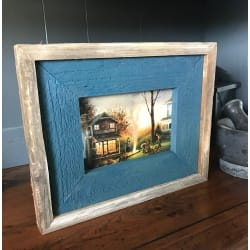 AGO Collection Rustic Shadow Box Picture Frame Mountain Blue.  FREE SHIPPING!!! (5x7) large, primary, image