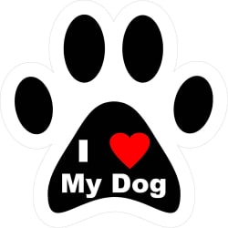 I Love My Dog Decal (6x6 / Vinyl Decal) large, primary, image