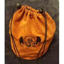 D&D Embroidered Dragon Large Velvet Dice Bag (Empty) large, primary, image