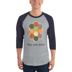 Hexagonal Anxiety shirt and Catan: Explorers & Pirates expansion large, primary, image