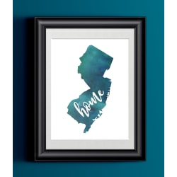 Watercolor New Jersey Art Print large, primary, image