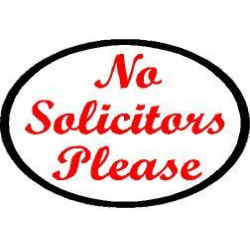 No Solicitors Please Decal (3x4) large, primary, image