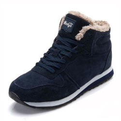 Women Plus Size Ankle Boots Warm Fur Female Winter Boots (blue / 7.5) large, primary, image