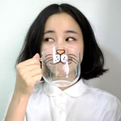 Cat Whiskers Glass Mug large, primary, image