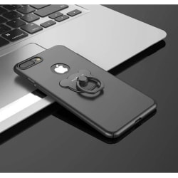 WIN IT! Luxury Black Cell Phone Finger Ring Stand Case For iPhone 7+ (Black) large, primary, image