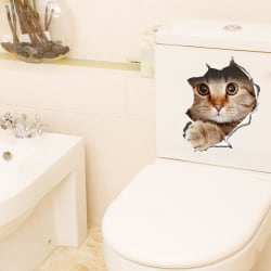 Cat Toilet Seat / Wall Sticker large, primary, image