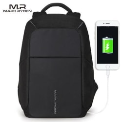 MARK RYDEN Multifunction USB charging 15inch Laptop Backpacks- anti thief (Black USB / United States large, primary, image