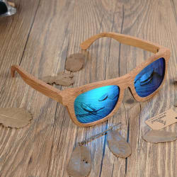 Bamboo Sunglasses (Blue Lens) large, primary, image
