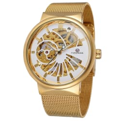 FORSINING Number Sport Watch Mens Watches Top Brand Luxury Automatic Watch (Gold / C) large, primary, image