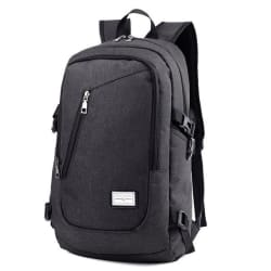 Smart Backpack With a USB jack (Black) large, primary, image