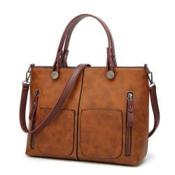 All- Purpose Carry-On Shoulder Bag (brown / China) large, primary, image