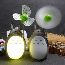 Kawaii Totoro Fan Lamp Led Night (warm white color) large, primary, image