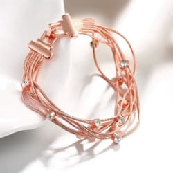 18K Rose Gold Plated Wrap Bracelet large, primary, image