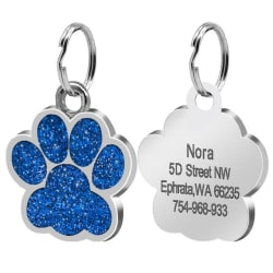 Personalized Pet ID Tags (Assorted Designs) (2.4cm 016 Blue) large, primary, image