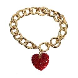 Red Rhinestone Heart Toggle Bracelet large, primary, image