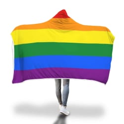Rainbow Hooded Blanket! large, primary, image
