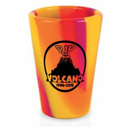 RIP Volcano - Shot Glass (Single) large, primary, image
