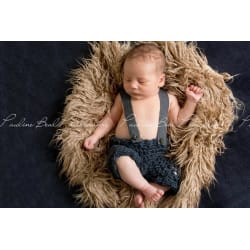 Taupe Curly Alpaca Faux Flokati Fur Newborn Photography Prop (30x35 / Taupe) large, primary, image