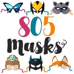 805 Masks: Large size image