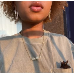 """""""BESTiiES"""" NECKLACE (gold) large, primary, image"""