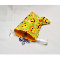 Emoji Drawstring Dice Bag or Gift Pouch large, primary, image