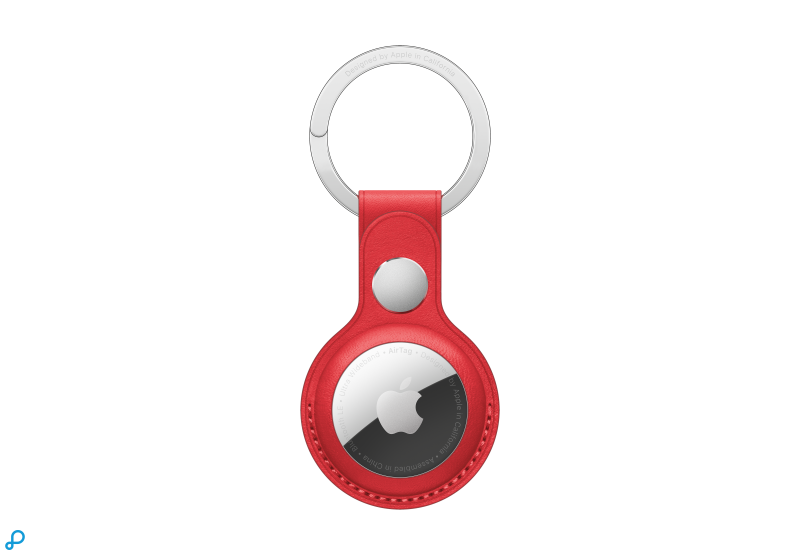 Leren AirTag-sleutelhanger - (PRODUCT)RED
