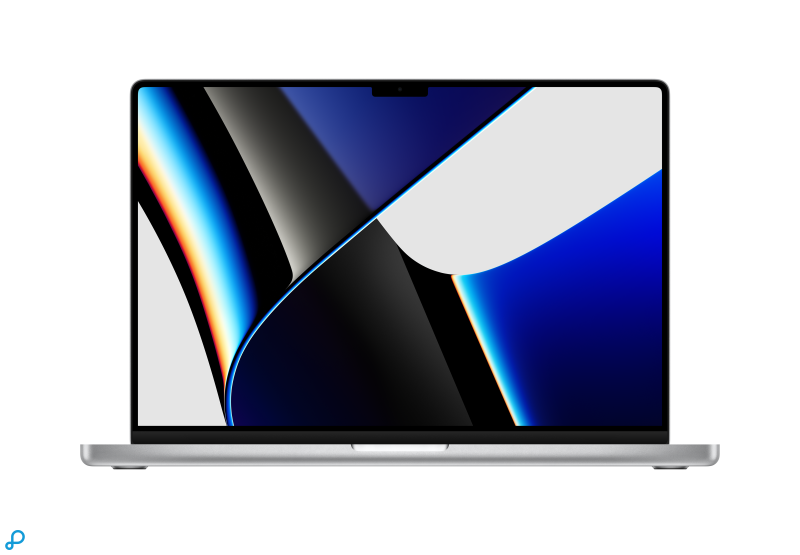 16-inch MacBook Pro: Apple M1 Pro‑chip met 10-core CPU en 16-core GPU, 1 TB SSD - zilver