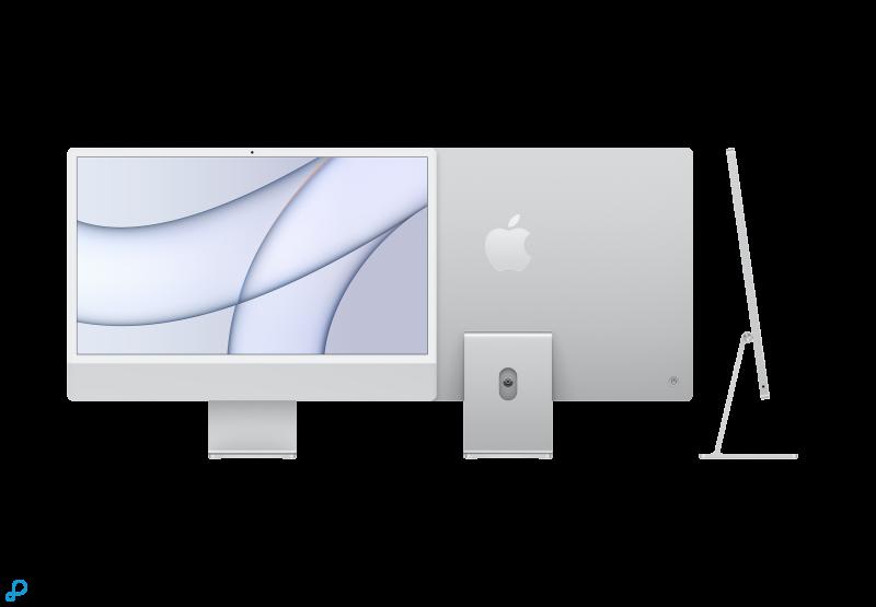 24-inch iMac met Retina 4,5K-display: Apple M1-chip met 8-core CPU en 8-core GPU, 512 GB - zilver