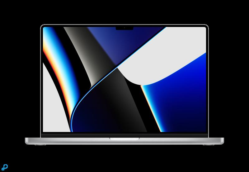 16-inch MacBook Pro: Apple M1 Pro‑chip met 10-core CPU en 16-core GPU, 512 GB SSD - zilver