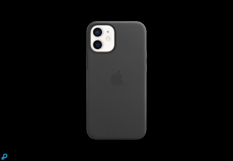 Leren hoesje met MagSafe voor iPhone 12 mini - Zwart