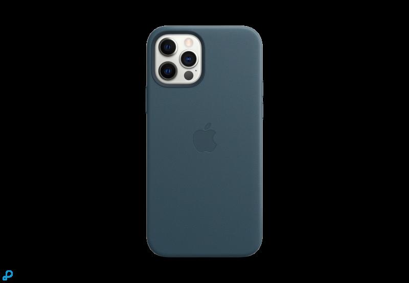 Leren hoesje met MagSafe voor iPhone 12 | 12 Pro - Baltisch blauw