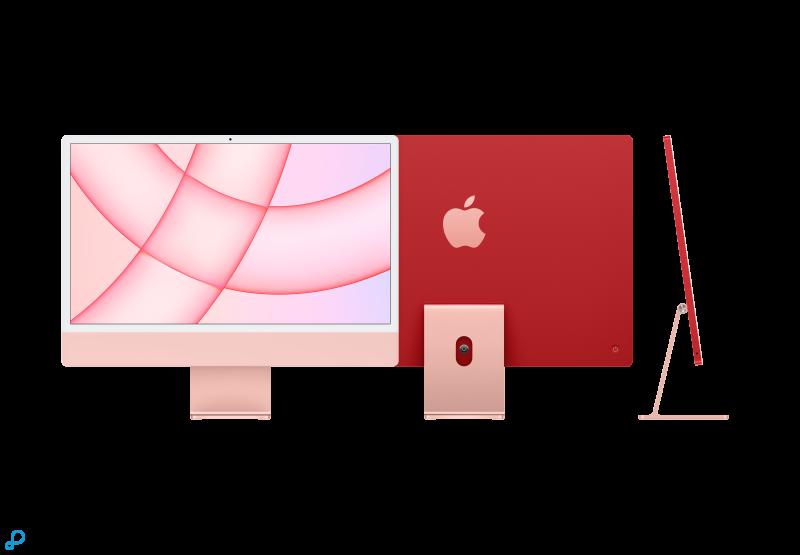 24-inch iMac met Retina 4,5K-display: Apple M1-chip met 8-core CPU en 7-core GPU, 256 GB - roze