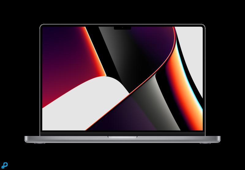 16-inch MacBook Pro: Apple M1 Pro‑chip met 10-core CPU en 16-core GPU, 512 GB SSD - spacegrijs