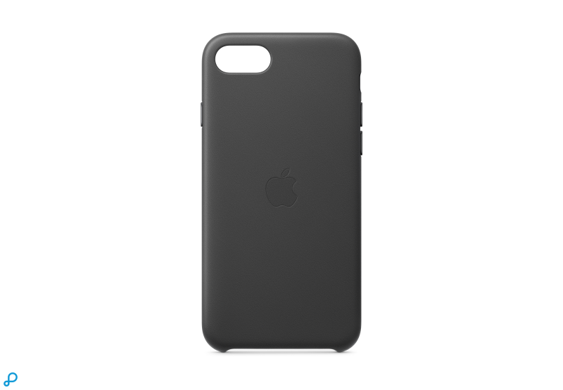 iPhone SE Lederen Case - Zwart