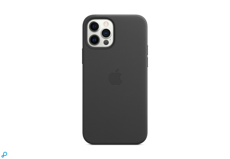 Leren hoesje met MagSafe voor iPhone 12 | 12 Pro - Zwart