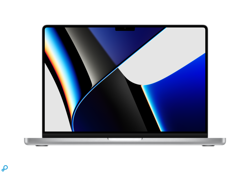 14-inch MacBook Pro: Apple M1 Pro-chip met 10-core CPU en 16-core GPU, 1 TB SSD - zilver