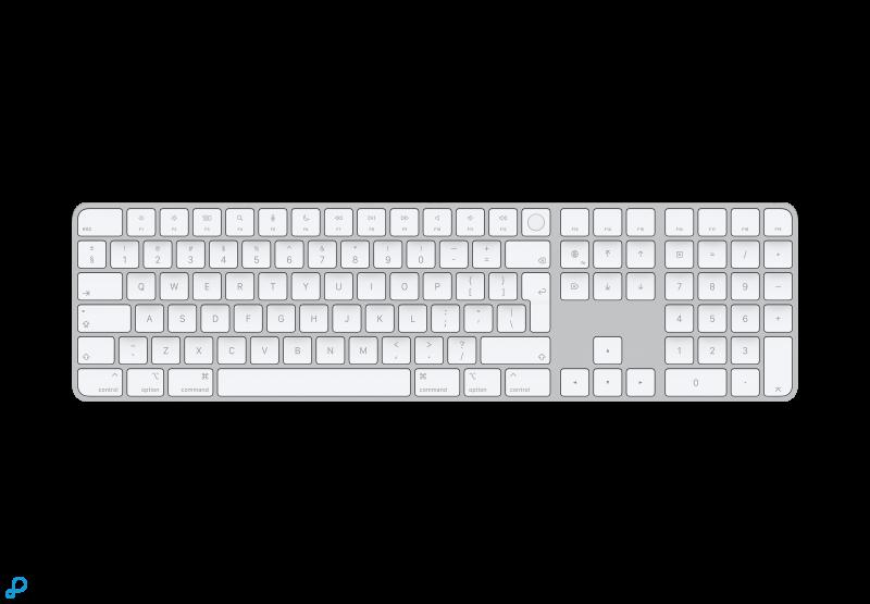Magic Keyboard met Touch ID en numeriek toetsenblok voor Macs met Apple Silicon - Deens