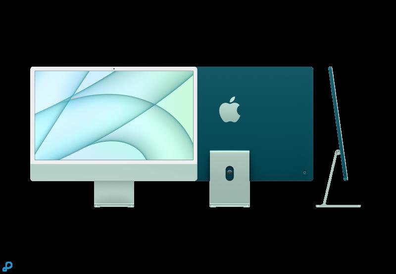 24-inch iMac met Retina 4,5K-display: Apple M1-chip met 8-core CPU en 7-core GPU, 256 GB - groen