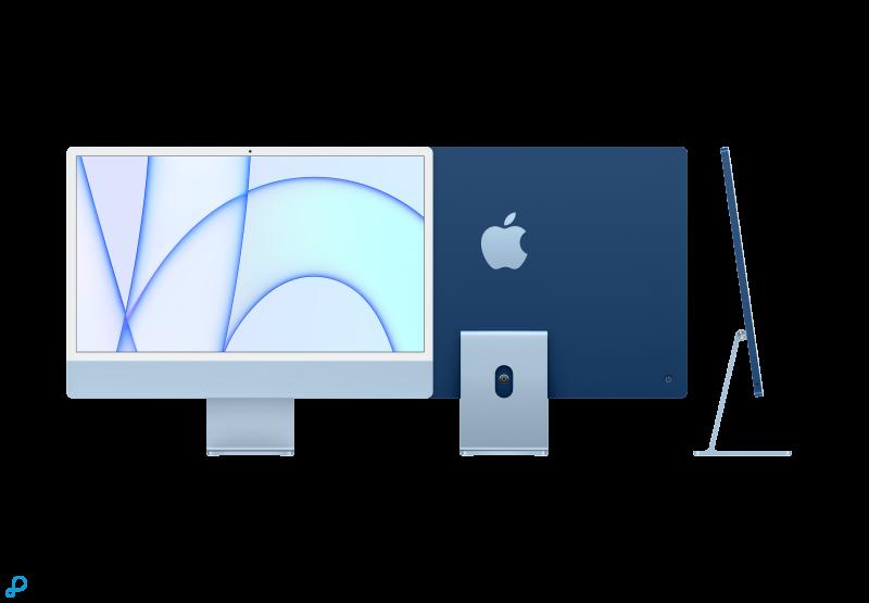 24-inch iMac met Retina 4,5K-display: Apple M1-chip met 8-core CPU en 8-core GPU, 256 GB - blauw