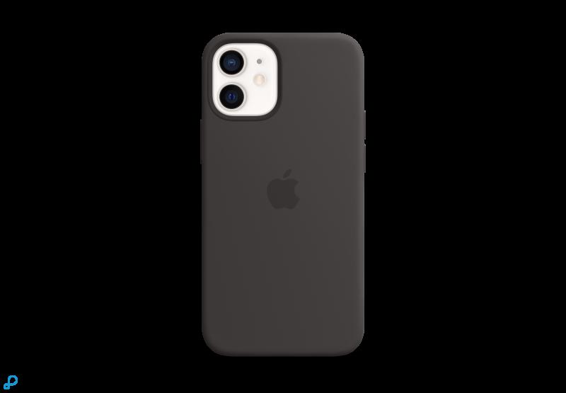 Siliconenhoesje met MagSafe voor iPhone 12 mini - Zwart