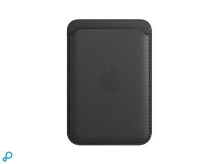 Leren portefeuillehoesje met MagSafe voor iPhone - Zwart