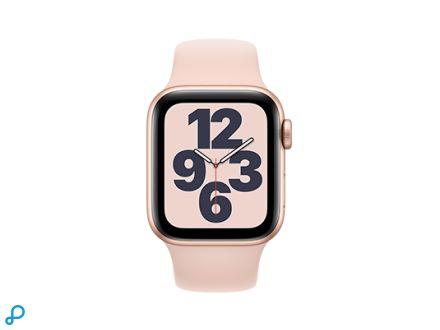 Apple Watch SE - 40mm Goud aluminium kast met roze sportband - regular