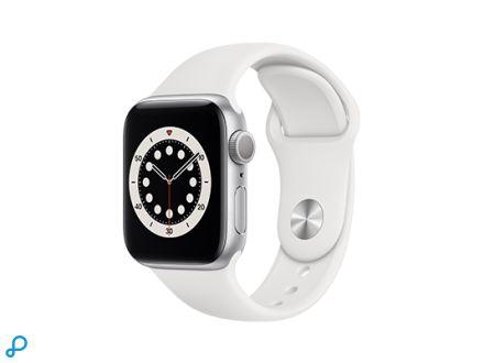 Apple Watch Series 6 - 40mm Zilver Aluminium kast met witte Sportband - Regular