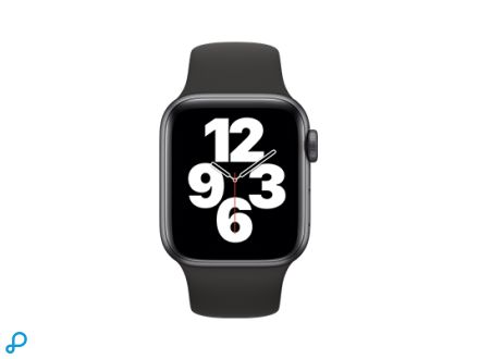 Apple Watch SE - 40mm Spacegrijs aluminium kast met zwarte sportband - regular