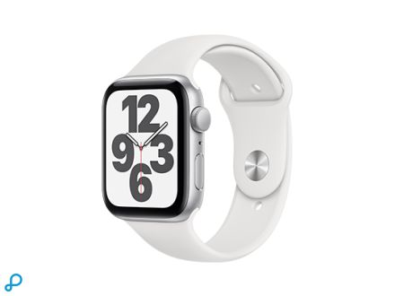 Apple Watch SE - 44mm Zilver aluminium kast met witte sportband - regular
