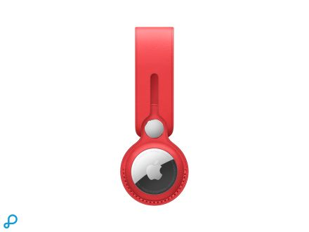 Leren AirTag-hanger - (PRODUCT)RED