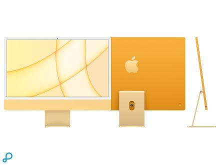 24-inch iMac met Retina 4,5K-display: Apple M1-chip met 8-core CPU en 8-core GPU - geel