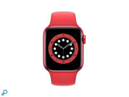 Apple Watch Series 6 - 40mm PRODUCT(RED) Aluminium kast met PRODUCT(RED) Sportband - Regular