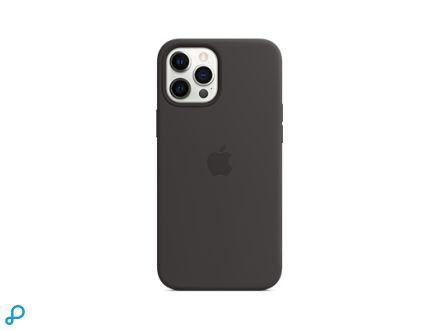 Siliconenhoesje met MagSafe voor iPhone 12 Pro Max - Zwart