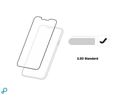 GLASS 2.5D STANDARD voor iPhone 5/5C/5S/SE